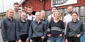Kroken-gänget med fr v Rebecca Rensbo, Niklas Ljung, Kajsa Öttenius, Sebastian Mickleson, Tindra Kronblad, Malin Knutas, Andreas Håkansson, Linnéa Nordlund, Patrik Olsson och Vera Boman.