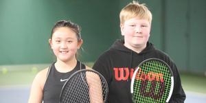 Tiana Deng och Filip Söderqvist, Norrtälje TK, hör till de mest lovande tennisspelarna i Sverige.