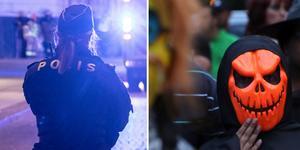Polisen varnar för allt för skrämmande utklädnad under Halloween. Arkivbild. Foto: TT