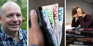 Barn- och bildningsnämnden, där Peter Berg (V) är ordförande, har föreslagit att fem av skolans elevresurser ska sägas upp eftersom nämnden behöver spara pengar. Foto: VLT/arkiv, Klockar Mattias Näs och TT/arkiv