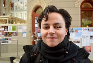 David Menesus, 20 år, snöskottare, Haga: