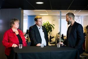 I valet 2014 slogs Bengt Sörlin (M) mot Elisabet Lassen (S). Här i en debatt som leds av Marcus Melinder.Bild: Jennie Johansson