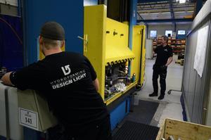 Just nu pågår tillverkning av prototyper hos Hydroforming Design Light av ramrör till motorcyklar.