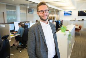 Carl-Johan Bergman, redaktionell chef i Mittmedia.