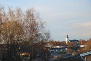Kvällsljus på Alfta kyrka.