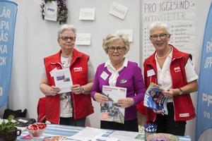Inger Sandberg, Raija Engström och MajBritt Norlander representerade PRO och Gysinge folkhögskola.
