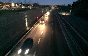 Morgonrusningen vid Norra infarten till Sundsvall.