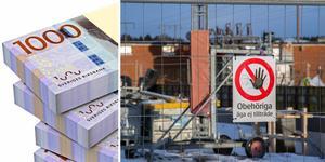Mälarenergi Elnät har börjat bygga en ny transformatorstation på södra Nibble. Kommunen anser att de började för tidigt och har därför bötfällt bolaget. Foto: TT/Magnus Östin