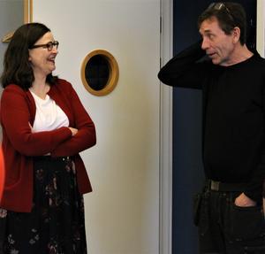 Anna Ekström och Göran Persson samtalade bland annat om bristen på yrkeslärare. Foto: Marija Ratkovic Vidakovic.