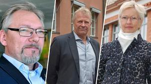 Tidningen har talat med de tre kommuncheferna i norra Dalarna. Montage av Anna Gustafsson.