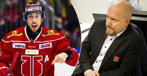 Aaron Palushaj  lämnar Örebro Hockey. Flyttar till Schweiz och ett ekonomiskt bud som amerikanen inte kunde eller ville tacka nej till. Nu får sportchefen Niklas Johansson jobba på att fylla den luckan.