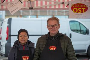 Anders och Noi Nilson från Karlstad sålde ost och korv.