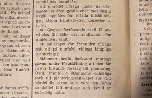 Redan 1919 villkorades kälkåkning i gåvobrevet från Planteringssällskapet.