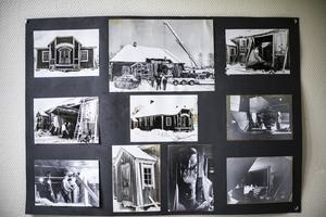 Under ett par decennier var huset oanvänt och hyrdes av en person som byggde en båt i huset. På väggen hänger fotografier som visar hur det togs hål i en av väggarna för att få ut båten i början på 1980-talet. Bilderna visar också vilket förfall huset var i på den tiden.