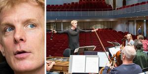 Martin Fröst har anlänt till Örebro konserthus där han den här säsongen inleder sin nya tjänst som chefsdirigent.