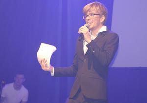 Philip Jurland har vunnit Funkismellon tidigare. Nu var han en av flera konferencierer.