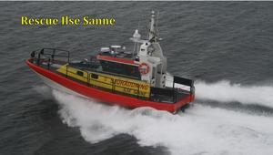 Rescue Ilse Sanne heter båten som till våren kommer att bli Sjöräddningssällskapet i Örnsköldsviks nya båt. Den kommer från västkusten. Foto: Sjöräddningssällskapet.