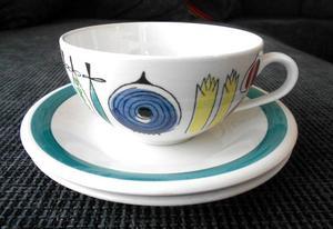 Svenska formgivaren, keramikern och textildesignern Marianne Westman (1928-2017) anses generellt vara en av Sveriges främsta formgivare av hushållsporslin. Westman arbetade på Rörstrand i Lidköping mellan 1950-1971. Här är en av hennes eftertraktade tekoppar.Bild: Tradera