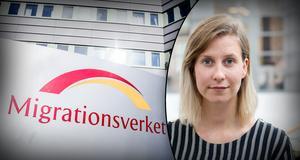 Fotomontage: TT/Migrationsverket. Lisa Danling på Migrationsverket svarar på hårda kritiken – påstås använda karantänstid för arbetskraftsinvandrare.