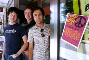 1999.  Borlängeborna Jesper Heed, Michael Kvist och Henry Murtokangas startar Peace & love-festivalen. Foto: Janne Eriksson