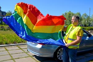 Morgan Grafström förbereder just nu årets Pridefestival i Sundsvall.