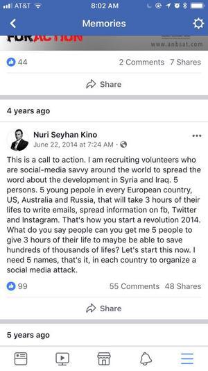 Den 22 juni 2014 postade Nuri Kino ett upprop på sin Facebooksida som kom att utgöra startskottet till den gräsrotsrörelse som senare kom att kallas ADFA.