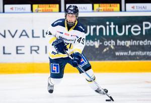 HV-forwarden Fanny Rask stod för två poäng mot moderklubben Leksands IF.Foto: Andreas Sandström/Bildbyrån