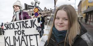 """""""Det är Gretas förtjänst att så många äntligen reagerar"""" säger Sanna Mattsson i Ludvika."""