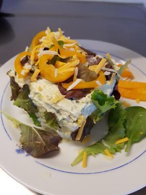 Vegetarisk smörgåstårta. Foto: Laila Westling