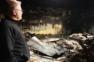 Det var under natten mot lördagen som det började brinna hos Boströms traktor och maskin.