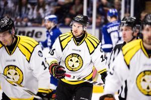 Oscar Eklund under tiden i Brynäs. Foto: Bildbyrån.