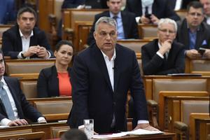 Victor Orbán har i princip avskaffat demokratin i Ungern. Mot detta borde EU:s medlemsländer protestera högt och stoppa utbetalningarna av EU-stöd, skriver Karin Karlsbro och Robert Beronius. Foto: Zoltan Mathe, TT.