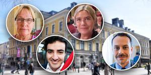 Margaretha Wedin, C, Ahmed Amin, S, Helene Börjesson, MP, och Per-Åke Fredriksson, L, är några av alla som ingår i nya styrets laguppställning.