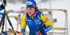 Elisabeth Högberg tog SM-silver i premiären. Foto: Nisse Schmidt/TT