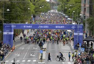 Inför starten i Stockholm maraton 2019. Foto: Pontus Lundahl