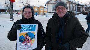 Peter Axelsson och Bosse Jonsson hade åkt från Sala för att vara med i firandet.