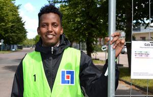 Ahmed Osman – en av 300 funktionärer under festivalen.