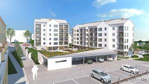 Det blir ett femvånings- och ett sexvåningshus i kvarteret Snedkanten. (illustartion: Agnasark)
