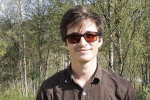 Joel Frisk från Funäsdalen ställde upp som volontär och var uppropare.
