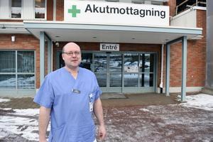 Thomas Lindberg, verksamhetschef vid akutmottagningen i Mora lasarett.