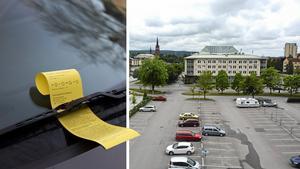 Skribenten är upprörd över att ha fått p-böter på SCA-parkeringen på en helgdag. Bilder: Janerik Henriksson/TT / Tommy Lindberg