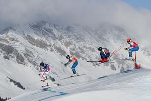 Full fart mot guldet. Erik Wahlberg i ledning. Bild: SIMON BRUTY, OIS/IOC/AFP