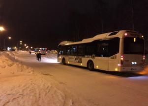 Stillastående bussar har varit en vanlig syn den här vintern. Foto: Privat