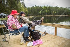 Britt och Lars-Gunnar Nilsson har varit med på fiskepremiären många gånger.