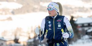 Frida Karlsson väljer att träna på hemmaplan. Bild: Henrik Montgomery/TT