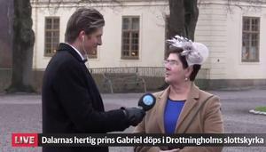 Dalarnas landshövding Ylva Thörn intervjuades i vår livesändning av vår reporter Kristian Åkergren, som bevakar dopet på plats i Stockholm.