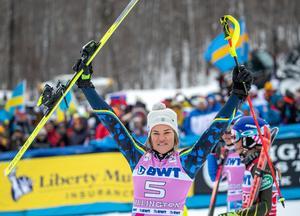 Anna Swenn Larsson trea i Killington. Foto Sportbild