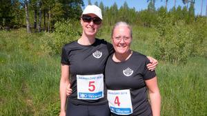 Stockholmarna Marie Lindberg och Cecilia Halvarsson var glada att se fick se delar av brandområdet.