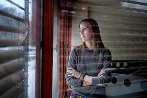"""Författaren Linnea Axelsson, akuell med ett 700-sidigt diktepos """"Ædnan"""", om två samiska familjer under 1900-talet och framåt.Foto: Jessica Gow / TT"""