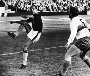 Tord Grip som ung fotbollsspelare 1965.
